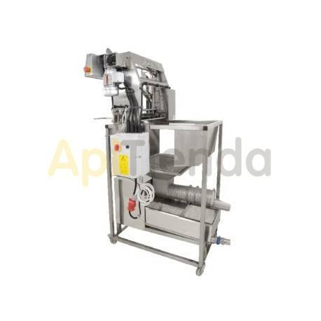 Desoperculadora automática de cuchillas eléctricas con prensa de opérculos 100kg/h Premium