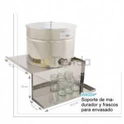 Soporte de madurador y frascos para envasado