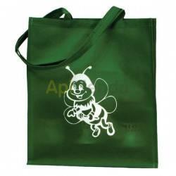 Bolsa de algodon con Abeja color Verde