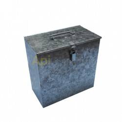 Caja de transporte para ahumador, galvanizada