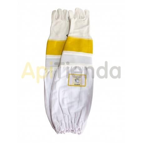 Guantes de cuero ventilados con protección mod.2