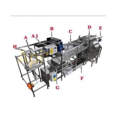 Línea de extraccion Completa. CONJUNTO PROFESIONAL