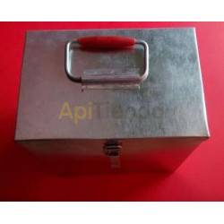 Caja transporte para ahumador acero inox.