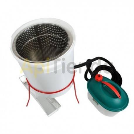 Caldera para opérculos con generador de vapor