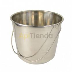 Stainless steel bucket 15 l, Cube made of feed stainless steelCapacity 15 litresMouth diameter: total 30cm and interior 28cmBott