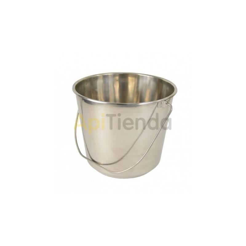 Maquinaria Cubo acero inoxidable 15 l Cubo fabricado en acero inoxidable alimentario Capacidad 15 litros Diámetro de boca: tot