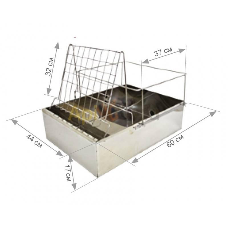 Cubetas Banco de desopercular  Universal Totalmente en acero inoxidable Nuevo modelo de banco de desoperculado. Fabricado en ac