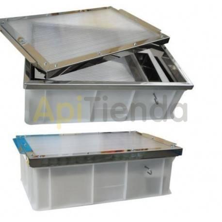 Fundidoras de cera Cerificador solar en plástico »Dimensiones exteriores: ancho 41 cm, largo 61cm, alto 20,5cm »Dimensiones de