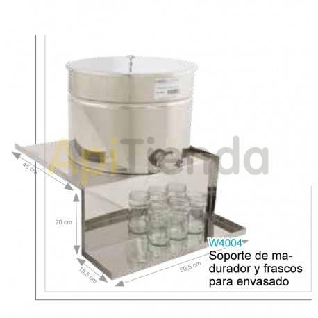 Maduradores y cubos  Soporte de madurador y frascos  para envasado Soporte madurador para envasarFabricado en acero inoxidablePe