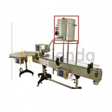 Envasadoras y bombas de trasiego Deposito 100L para  linea de envasado Potencia 520W Depósito de 300L con soporte, fondo calefa