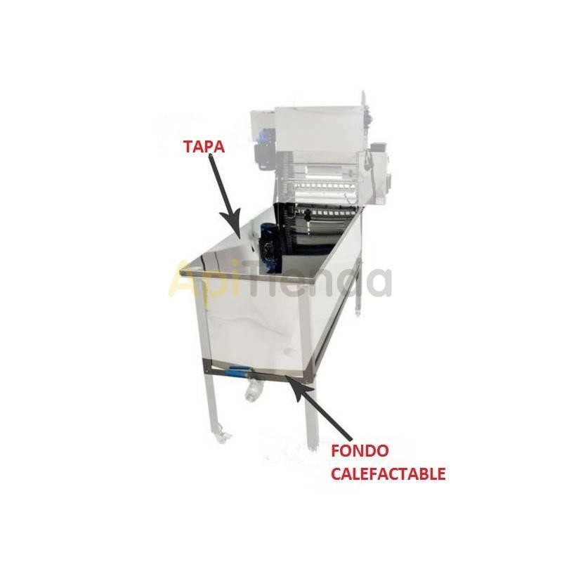 Desoperculadoras Tapa + fondo calefactable cubeta Tapa + fondo calefactable para desoperculadoras automáticasProducto adicional