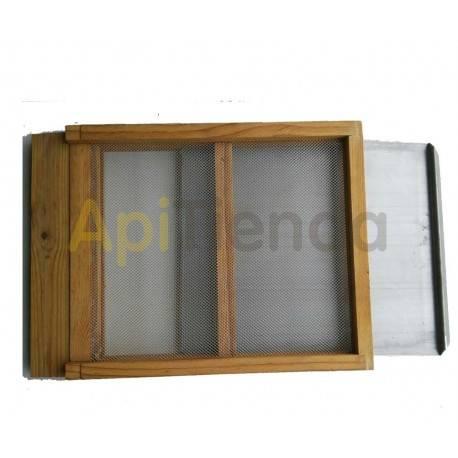 Colmenas de madera Fondo sanitario, colmena Langstroth/Dadant Fondo Sanitario. Rejilla y placa extraíble en acero galvanizado.