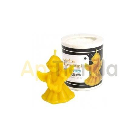 Moldes Molde Angelito Molde de silicona para elaborar las velas de cera de abeja Angelito Altura 55mm 20 gr de cera Mecha re