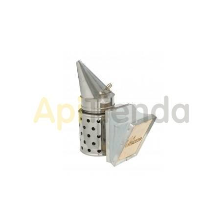 Ahumadores Ahumador inox con proteccion 24 cm BeeTools Ahumador fabricado en acero inoxidable, fuelle fabricado en madera y cuer