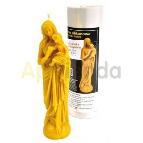 Moldes Molde para velas Virgen con El Niño Molde de silicona para fabricar velas de cera. Altura de vela hecha 20 cm Numero de