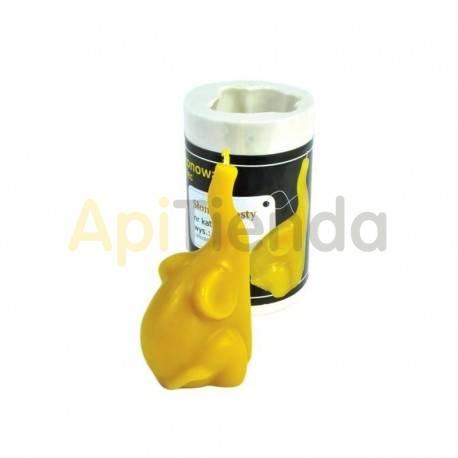 """Moldes Molde para velas """"Elefante"""" Molde de silicona elefante Altura de vela 9 cm mechas 3x10 PLAZO DE ENTREGA 3-4 SEMANAS"""