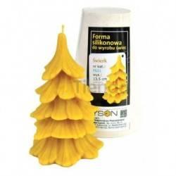 Moldes Molde Abeto Molde de silicona para elaborar las velas de cera de abeja Forma de Abeto Altura 135 mm Mecha 3x13 Gasto