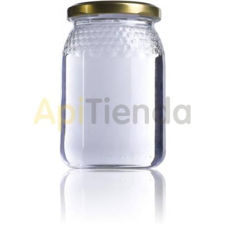 Botes Bote de  cristal celdilla 1/2 kg, con tapa caja 12uds Envase de cristal con celdilla. Tapa incluido Capacidad: 385 ml/ 1