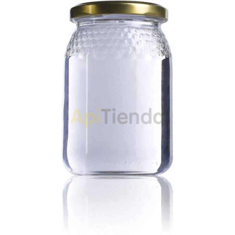 Botes de  cristal celdilla 1/2 kg, con tapa