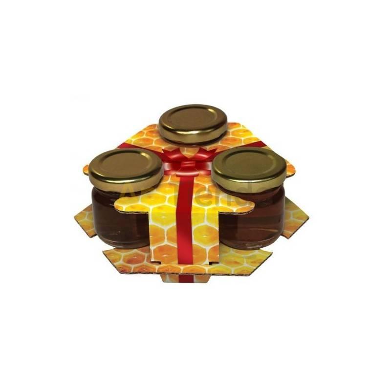 Cajas de cartón Caja decorativa para 3 botes de 50g - 10 unidades Caja decorativa para 3 frascos de 50g Fabricada en carton, co
