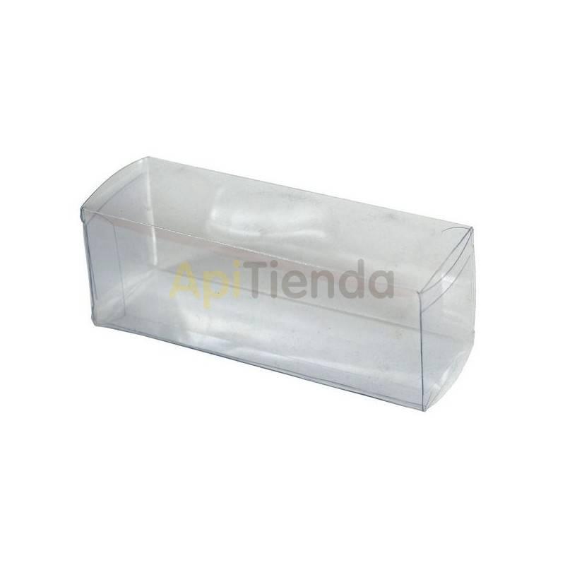 Cajas de cartón Caja transparente para 3 botes de 50g (35ml), (10 unidades) Cajas de plástico transparente para botes de miel de