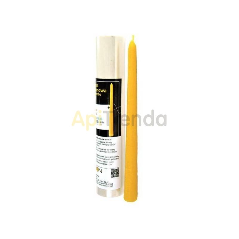 Moldes Molde Vela lisa Molde de silicona para elaborar las velas de cera Vela lisa alargada Altura 225mm Mecha recomendable