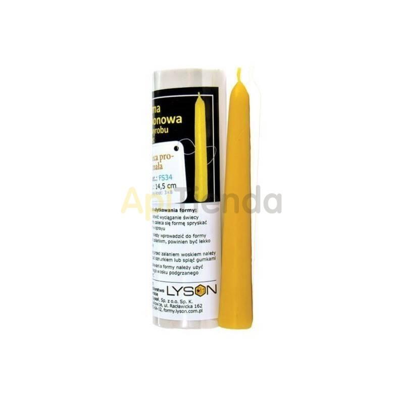 Moldes Molde Vela lisa pequeña Molde de silicona para elaborar las velas de cera Vela lisa pequeña Altura 145 mm Mecha recom