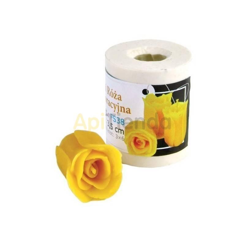 Moldes Molde mini-rosa, decorativa Molde de silicona para elaborar las velas de cera de abeja Rosa, decorativa Altura 35mm Me