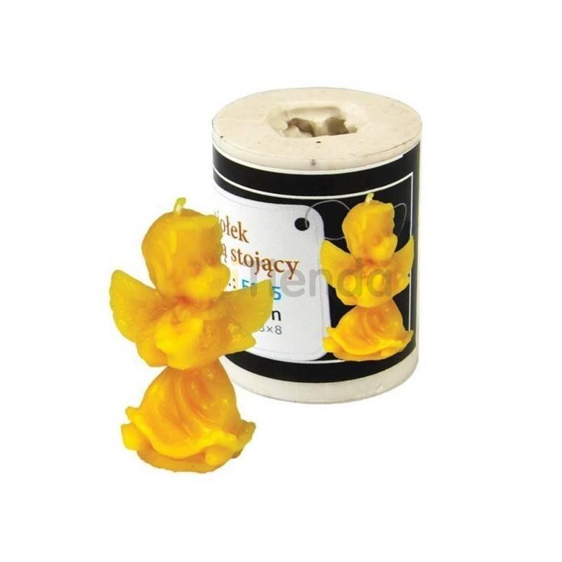 Moldes Molde Angel con lira, sentado Molde de silicona para elaborar las velas de cera de abeja Forma - Angelito Altura apro
