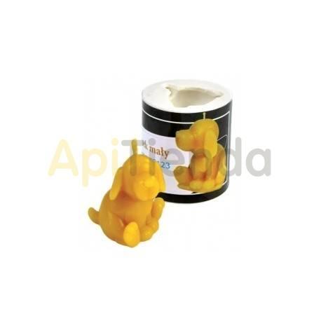 Moldes Molde Vela Perrito Molde de silicona para elaborar las velas de cera de abeja Forma - Perrito Altura 4 cm Mecha reco