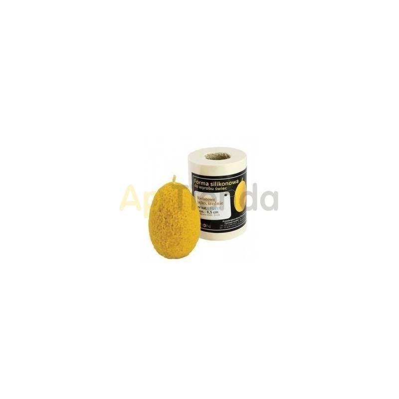 Moldes Molde huevo con flores, mediano Molde de silicona para elaborar las velas de cera de abeja Forma - Huevo milflores Al