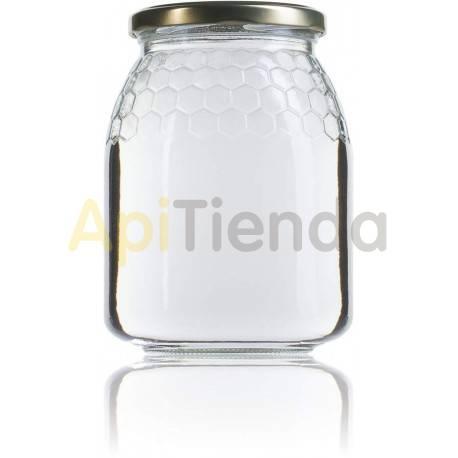 Botes Bote de  cristal 1kg, con tapa (PACK 12ud) Se suministra en una caja de cartón Envase de cristal con celdilla. Tapa inclu
