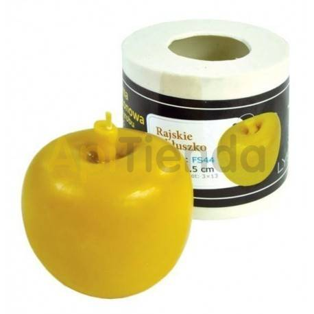 Moldes Molde Manzana del Edén Molde de silicona para elaborar las velas de cera de abeja Manzana del Edén Mecha 3×13