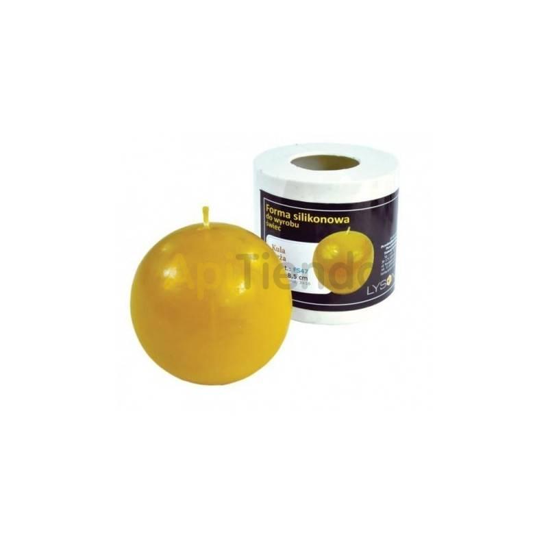 Moldes Molde Bola lisa, grande Molde de silicona para elaborar las velas de cera de abeja Bola lisa, grande Altura 8.5 cm Mec