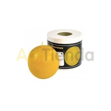 Moldes Molde Bola lisa, pequeña Molde de silicona para elaborar las velas de cera de abeja. Bola lisa, pequeña Altura 7 cm Me