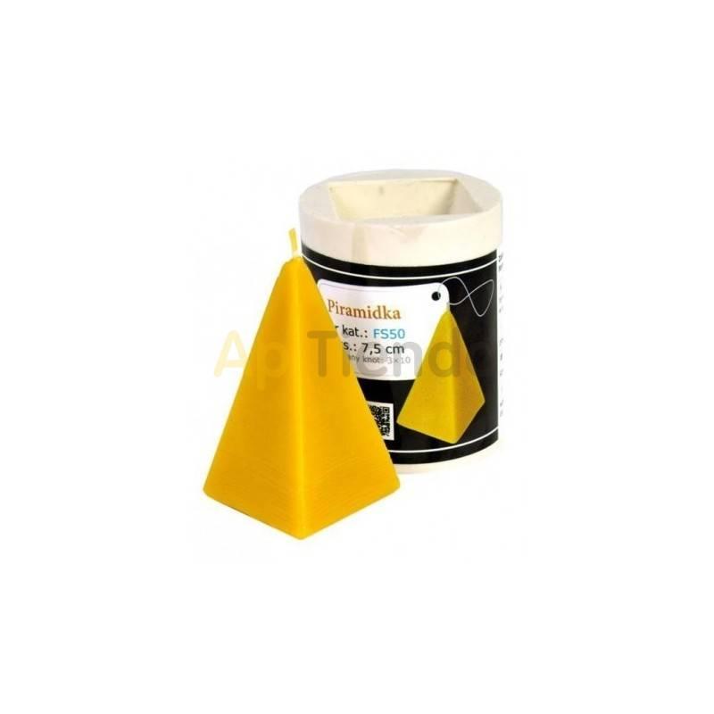 Moldes Molde Pirámide pequeño Molde Piramide (pequeño) Altura 75mm Mecha recomendable 3×10 Gasto aprox. de cera 45g  PLAZO