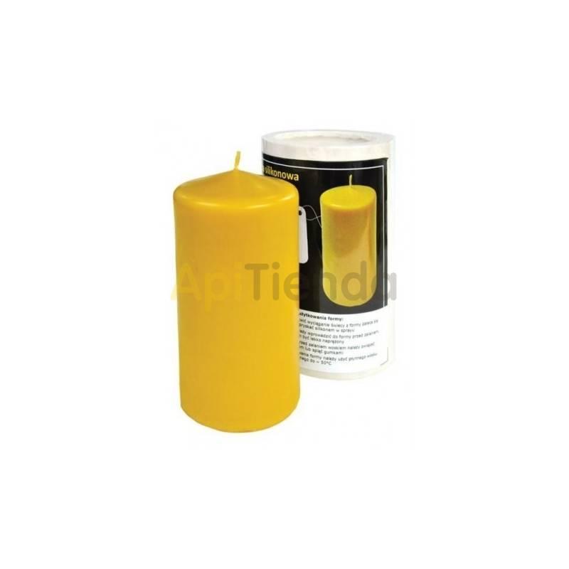 Moldes Molde Cilindro liso 13.5 Molde Cilindro Liso Altura 135 mm Ø 65 mm Mecha recomendable 3 Gasto aprox. de cera 375g