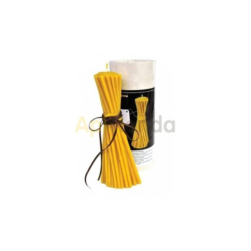 Moldes Molde Manojo de paja Molde de silicona para elaborar las velas de cera de abeja Manojo de paja Altura 215 mm Mecha rec