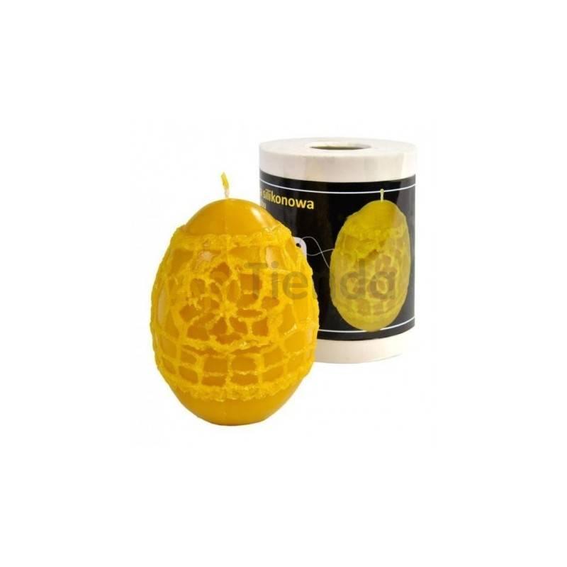 Moldes Molde Huevo con estampado Molde de silicona para elaborar las velas de cera de abeja Huevo decorado Altura 90 mm Mecha