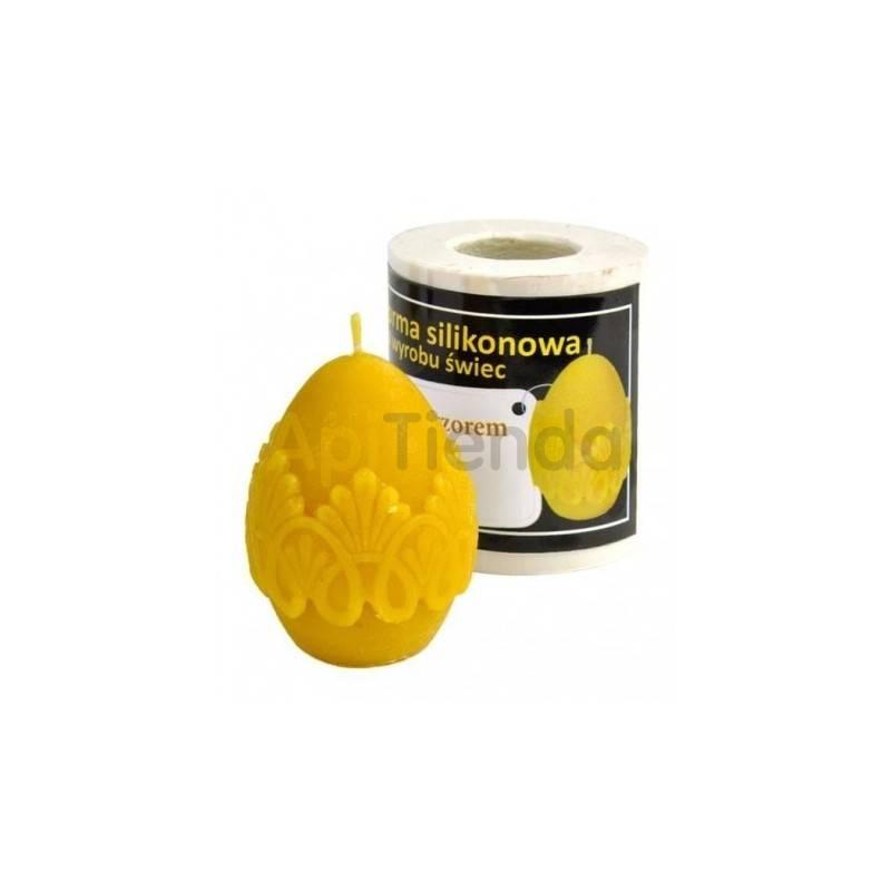 Moldes Molde Huevo con encaje Molde de silicona para elaborar las velas de cera de abeja Huevo con encaje Altura 55mm Ø 70mm