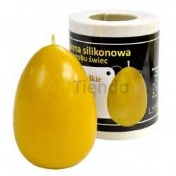 Moldes Molde Huevo liso, grande Molde de silicona para elaborar las velas de cera de abeja Huevo liso, grande Altura 75 mm Ø