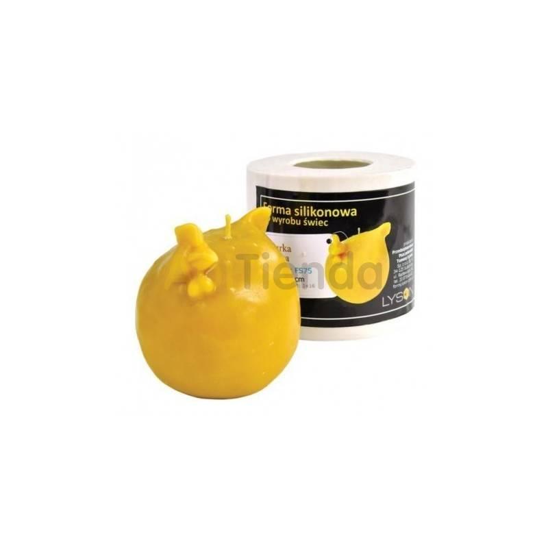 Moldes Molde Gallina, bola Molde de silicona para elaborar las velas de cera de abeja Gaiilna, bola Mecha recomendable 3x16 G