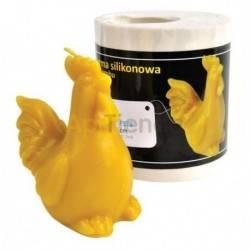 Moldes Molde Gallo Molde de silicona para elaborar las velas de cera de abeja Gallo Altura 90 mm Mecha recomendable 3x8 Cons