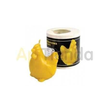 Pascua Molde Gallina Molde de silicona para elaborar las velas de cera de abeja Gallo Altura 75 mm Mecha recomendable 3x8 Co