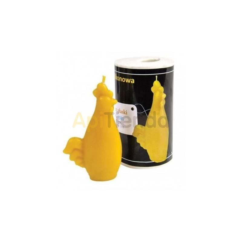 Moldes Molde Gallo plano Molde de silicona para elaborar las velas de cera de abeja Gallo plano Altura 75 mm Mecha recomendab