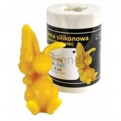 Moldes Molde Conejo con lavanda Molde de silicona para elaborar las velas de cera de abeja Conejo con huevos de Pascua Altura