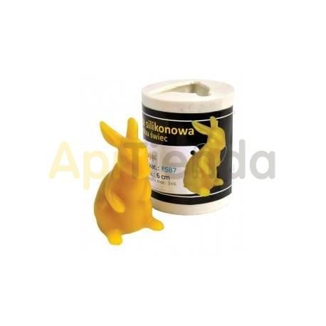 Moldes Molde Liebre Molde de silicona para elaborar las velas de cera de abeja Liebre Altura 60 mm Mecha recomendable 3x6 Co