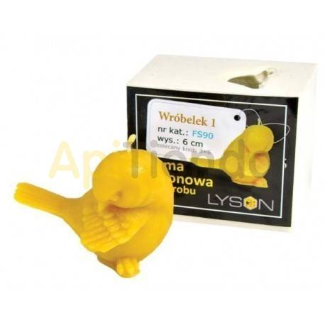 Moldes Molde Gorrión 1 Molde de silicona para elaborar las velas de cera de abeja Forma - Grrión Altura 60mm Mecha 3x6 45
