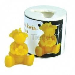 Figuritas Molde Oveja con flor, sentada Molde de silicona para elaborar las velas de cera de abeja Forma - Oveja con flor, se