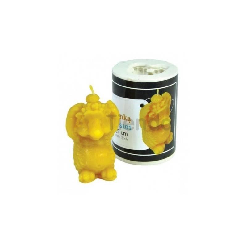 Moldes Molde Erizo Molde de silicona para elaborar las velas de cera de abeja Forma - Erizo Altura 55 mm Mecha 3x6